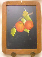 Vintage Chalkboard Hand Painted Apple Art Made in Portugal Wall Decoration