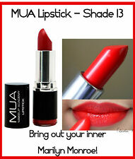 MUA Makeup Academy Lipstick Shade 13 RED BERRY BURGUNDY SCARLET SIREN SEXY HOT