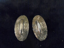 "Vintage Costume Jewlery Earrings (Clip Ons) 1 1/4"" Antique Look Siver/Gold"