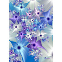 Diamond Painting 5D Blue Flowers DIY Cross Stitch Kits Home Decor Art Mural Gift