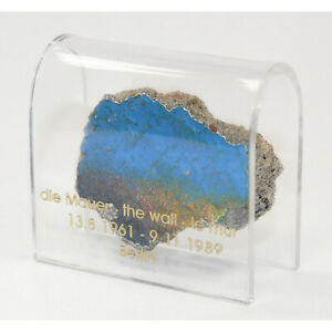 Historical Genuine Piece of the Berlin Wall in an Acrylic Display Various Sizes