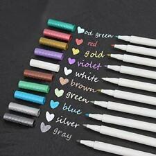 métallique marqueur stylos, Lot de 10couleurs, stylo Peinture métallique