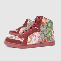 GUCCI SUPREME CANVAS GG GUCCISSIMA BLOOM FLOWER LIMITED HIGH TOP SNEAKERS BOOTS