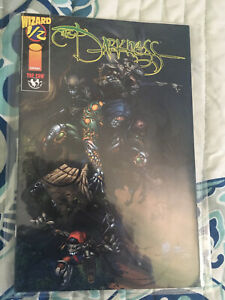 THE DARKNESS #1/2 (1996) BY WIZARD / TOP COW COMICS NEAR MINT (9.4) WITH COA