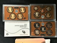 2015 U.S. Mint 14 Coin Proof Set Complete 3 Sets w/box