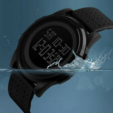 Fashion Men's Rubber Digital Army Military Quartz Sport Wrist Watch Waterproof