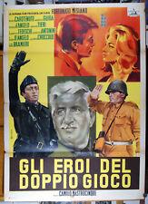 manifesto 2F film GLI EROI DEL DOPPIO GIOCO Mario Carotenuto Wandisa Guida 1962