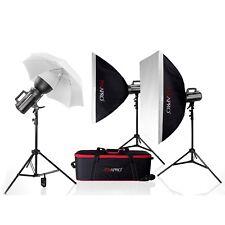 Studio Flash Kit School Portrait Pro Photo Lighting System 3-points Bowen 1200Ws