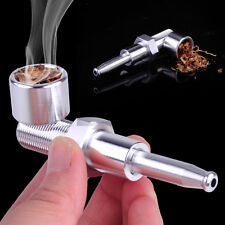 Silver Screw Design Smoking Pipe Tobacco Pipe Cigarette Holder Metal Pipes Gift
