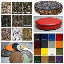 "Bar Stool Cover vinyl or camo kitchen / snack / pub in 25 colors 4"" SIDES (W)"