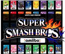 SSBU Super Smash Bros Ultimate WHITE Custom NFC Amiibo Card Nintendo Switch 3DS