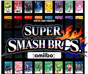 SSBU Super Smash Bros Ultimate WHITE Custom NFC Amiibo Card Nintendo Switch 3DS
