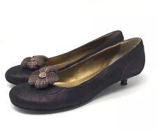 Fornarina Deep Purple Kitten Heels Size 39
