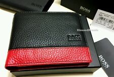 NEW DESIGNER HUGO BOSS WALLET 'MADIAL' '50261800' BI-FOLD GRAINED LEATHER