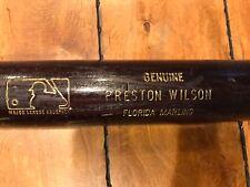 "PRESTON WILSON FLORIDA MARLINS SIGNED AUTO LOUISVILLE GAME USED BAT 34"" COA"