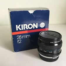 Kiron Kino Precision 28mm F2 Fast Prime Lens Olympus OM Fit - Boxed - Excellent