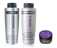 Osmo Silverising Shampoo 300ml, Conditioner 300ml and Violet Mask 100ml