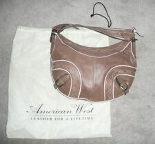 American West Leather Women's Purse Breast Cancer Awarness NEW w Clutch