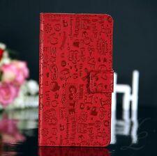 Samsung Galaxy Note 3 n9000 9005 sac Flip Case étui Bande dessinée protection rouge étui