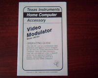 Texas Instruments Home Computer Accessory Video Modulator UM1381 Booklet Guide