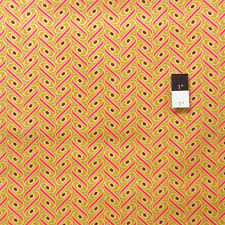 Joel Dewberry JD57 Heirloom Ribbon Lattice Gold Cotton Fabric By Yd