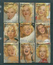 Monserrat 1995 Marilyn Monroe set of 9 unmounted mint