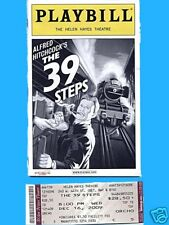 ORIG BROADWAY PLAYBILL FOR  THE 39 STEPS WITH TICKET