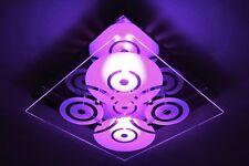 Plafonnier LED Design Carré Changeur de couleur Lustre Spot plafond Verre 63073