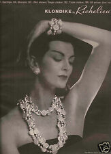 50's Richelieu Pearls Ad - Carmen Dell'Orefice  1959