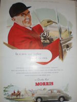 Quality first Morris motor cars off to the hunt colour advert 1952