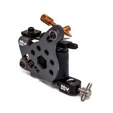Micky Bee Professional Tattoo Machine Coil Gunmetal Honey Color Shader 10 Wrap