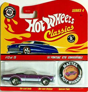 Hot Wheels 40th Anniversary Classics 4 '67 PONTIAC GTO CONV. w/Button (Purple)