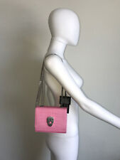 NWT THOMAS WYLDE PINK SILVER CROC EMBOSSED LEATHER CHAIN POCHETTE BAG PURSE