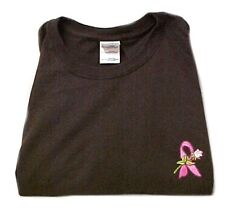Breast Cancer T-Shirt 3XL Pink Awareness Ribbon Rose Brown S/S Crew Neck New