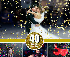 40 Confetti Photoshop Overlays, Wedding Birthday confetti, Bokeh magic effect