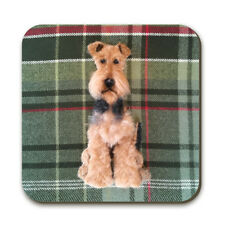 Airedale Terrier Coaster by Sharon Salt, Dog Collectables, Tableware SA07C