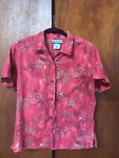 Columbia  short sleeve, button front. Size M. Floral pink