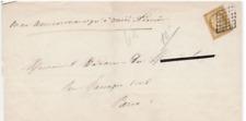 FRANCE ! LETTRE vers PARIS de 1850 avec Timbre CERES n°1 ! Obltiération Grille