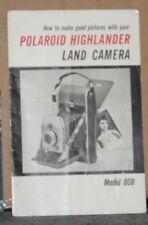 Polaroid Highlander Land Camera Model 89B Instruction Booklet