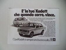 advertising Pubblicità 1978 OPEL KADETT GT/E