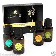 Aromatherapy Essential Oils 100% Organic Pure ●Set 4x10ml Assorted Bottles