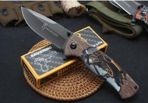 Browning Pocket Knife Folding Knives Camping Hunting Fishing Survival Tactical