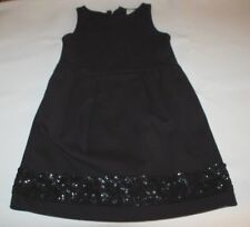 Crewcuts Girls Black Party Dress Sequins Side Pockets Size 5 J Crew