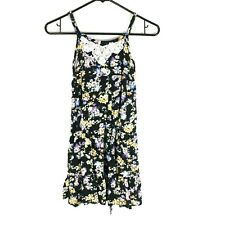 Justice Girls Dress 10 Multi Color Floral Sleeveless Spaghetti Straps Tie Back