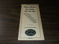 OCTOBER 1957 NEW YORK CENTRAL WEST SHORE PUBLIC TIMETABLE