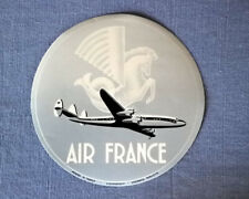 Air France   Super Constellation  vintage Luggage Label