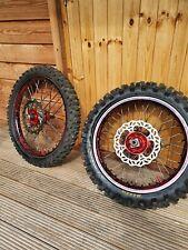 Crf450r 2008 Wheel Set, Talon Hubs with Red Camo rims