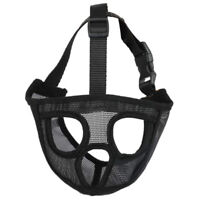Short Snout Dog Muzzles Adjustable Breathable Mesh Bulldog Muzzle for E1H9