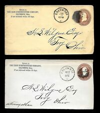 PH67 Advertisement 2 The Iron Substructure Co. Comumbus.O. Embossed Fancy Cancel