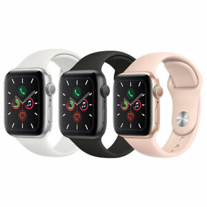 Apple Watch Series 5 40mm GPS - Aluminum - Gold Space Gray Silver Smartwatch